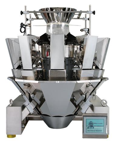 Multi head weigher for automated weighing 10 head