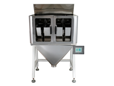 Linear weighing machine for automated filling 4 head